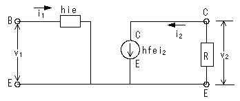 トランジスタの等価回路と増幅率